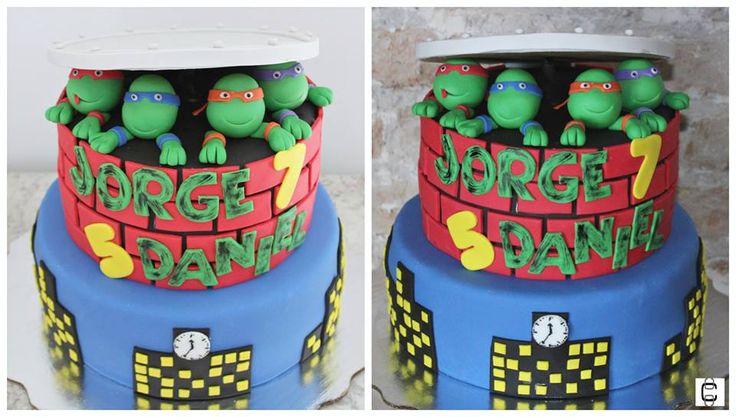 Ninja turtles fondant cake ideas / Ninja turtles party ideas / Pastel de fondant de tortugas ninja / Fiesta tortugas ninga