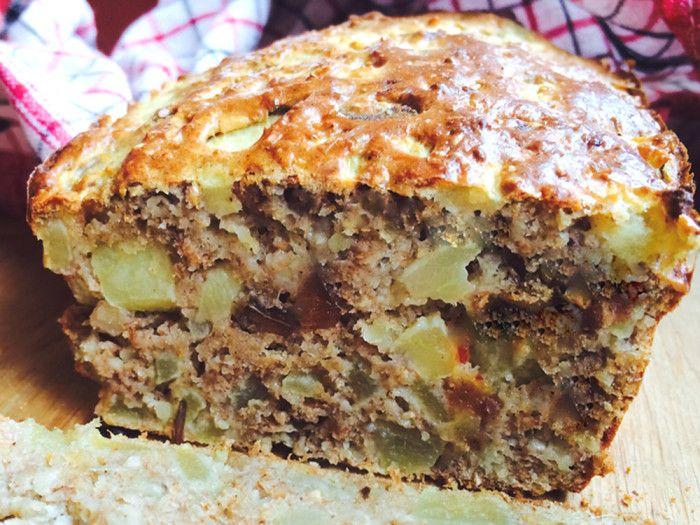 dietetyczne ciasto z jabłkami bez cukru bez tłuszczu, super zdrowy keks