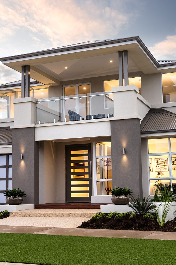 The Tinelli © Ben Trager Homes | Perth Display Home | Home Facade Entry Balcony