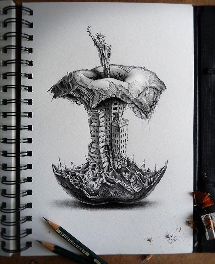 Impresionantes trabajos de dibujo e ilustración a lápiz - ARG Noticias