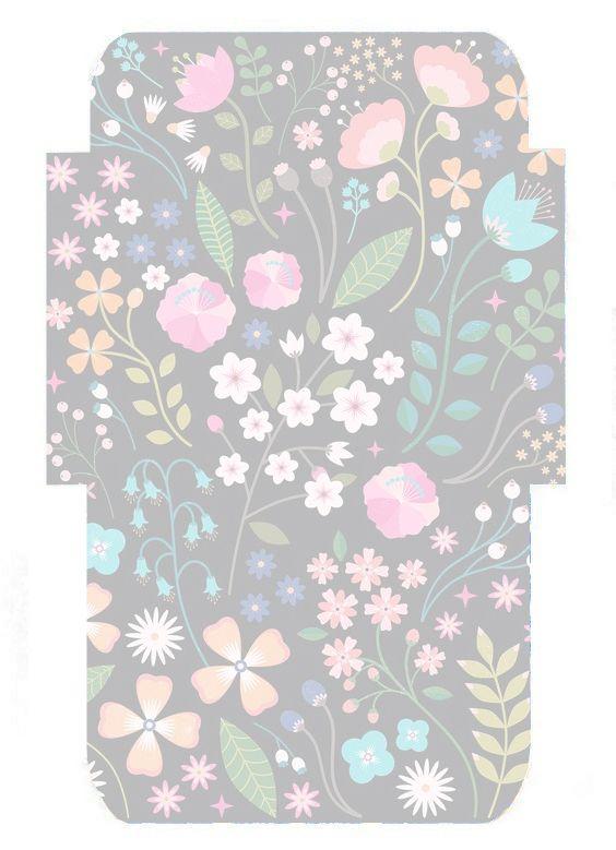 folk floral envelope template