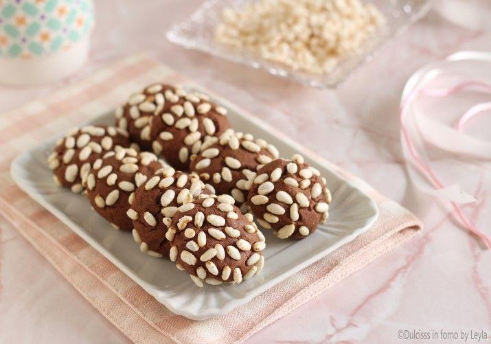 Biscotti+al+riso+soffiato+e+nutella,+facilissimi+e+veloci