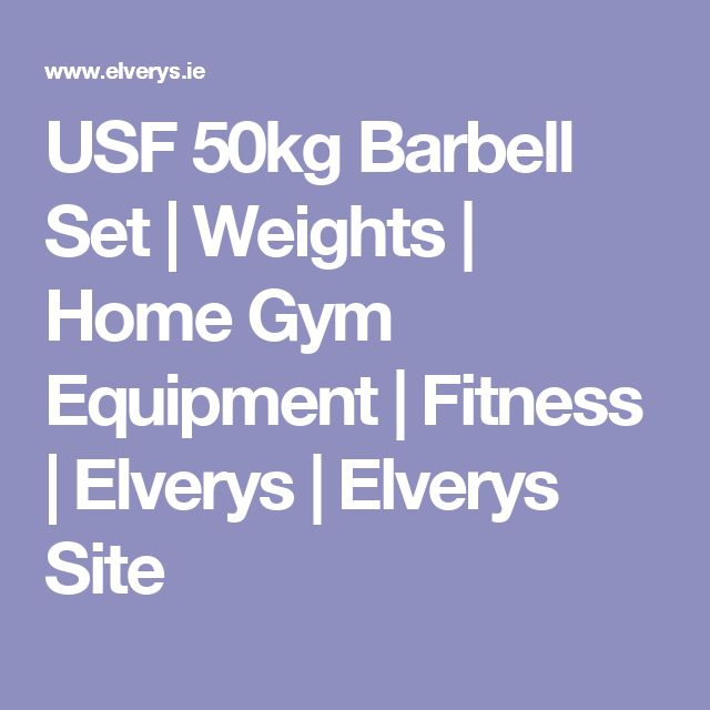 USF 50kg Barbell Set | Weights | Home Gym Equipment | Fitness | Elverys | Elverys Site