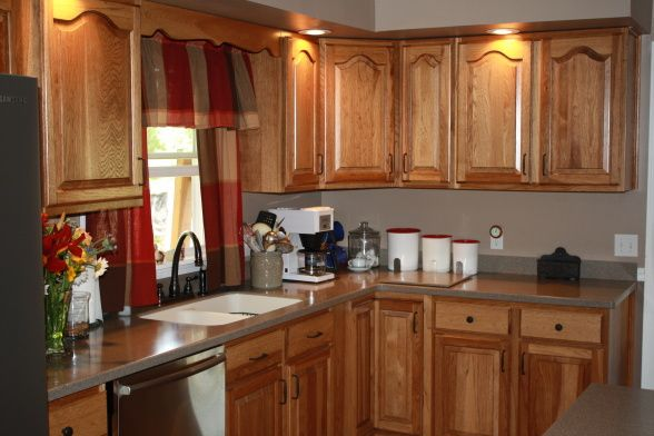 Kitchen Hickory Cabinets Photos Comfortable Country Kitchen Custom