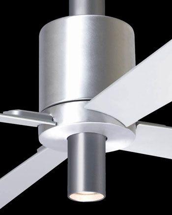 Modern Fan, stille plafond ventilator PENSI met licht ook in wit