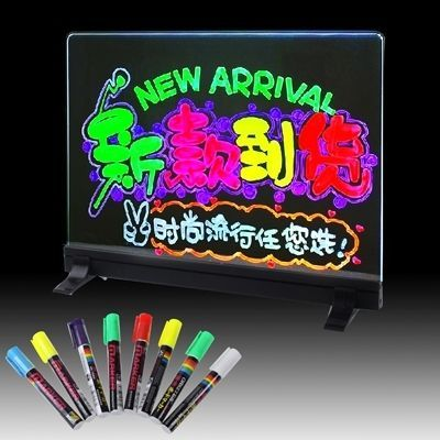 amazones gadgets WJ Colorful LED Fluorescent Message Board with 8pcs Highlighter Pens, Size: 33cm: Bid: 8,31€ (£7.32) Buynow Price 8,31€…