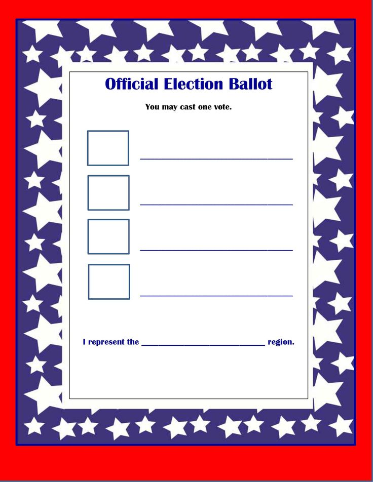 Best 25 voting ballot ideas on pinterest election for Election ballots template