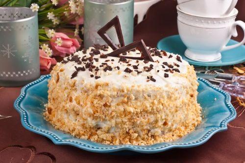 Торт сметанник с сгущёнкой рецепт