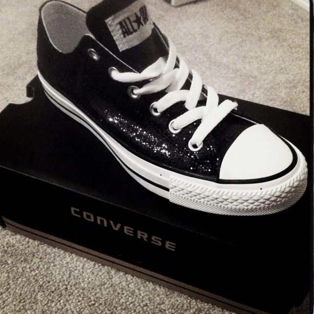 Sparkly Black Converse!
