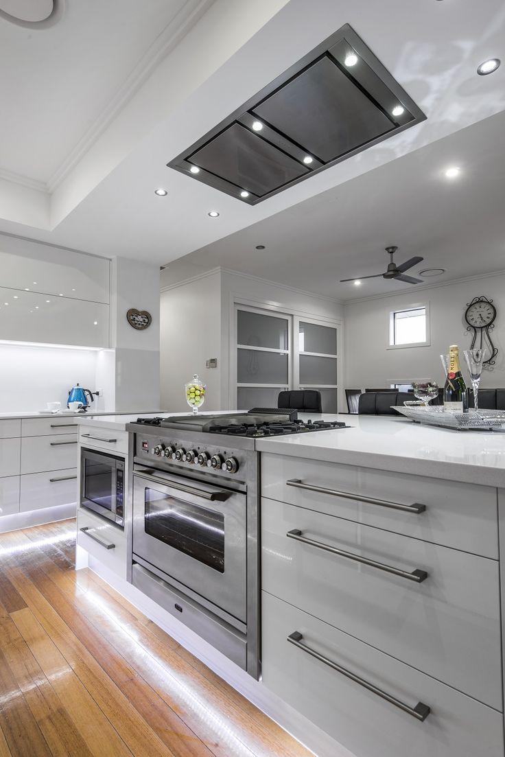 Schweigen Celing Rangehood. We love this sleek kitchen!