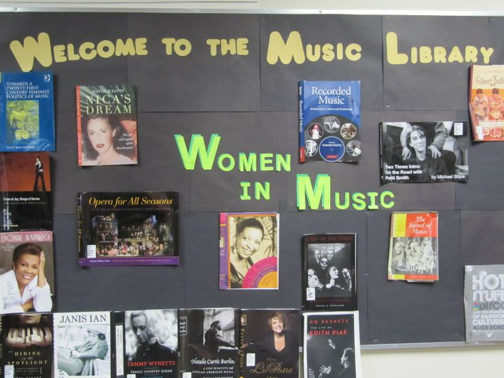 Music in our Schools & Women's History Month Combined! {UWM Music Library}: Schools Months, Music Libraries, Fun Bulletin, Bulletin Boards, Music Activities, Months Combinations, Seasons Music, Boards Ideas, History Months