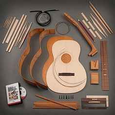 Mahogany Triple-O Guitar Kit with Dovetail Neck. Stewart MacDonald Lutheir suppliers USA.