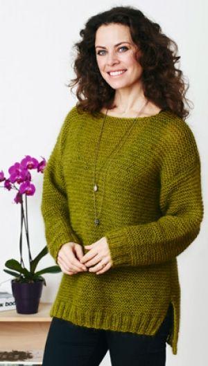 Stor sweater i retstrik | Familie Journal