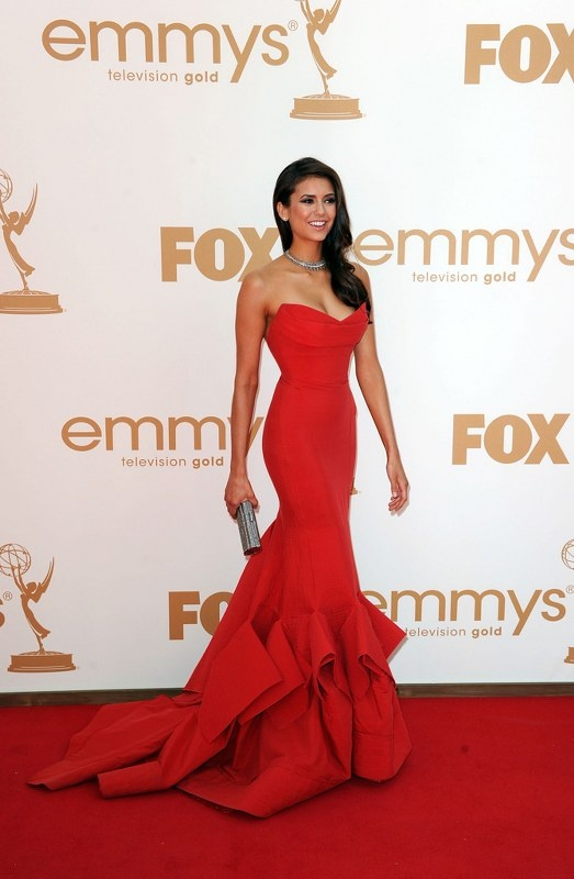 Red evening Gown, Lovely Nina Dobrev.... this would be pretty in white!