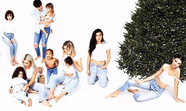 Kim Kardashian Shares Last Family Christmas Card But Kylie Is Missing Kardashian Family Photo Christmas Family Photoshoot Family Christmas Cards