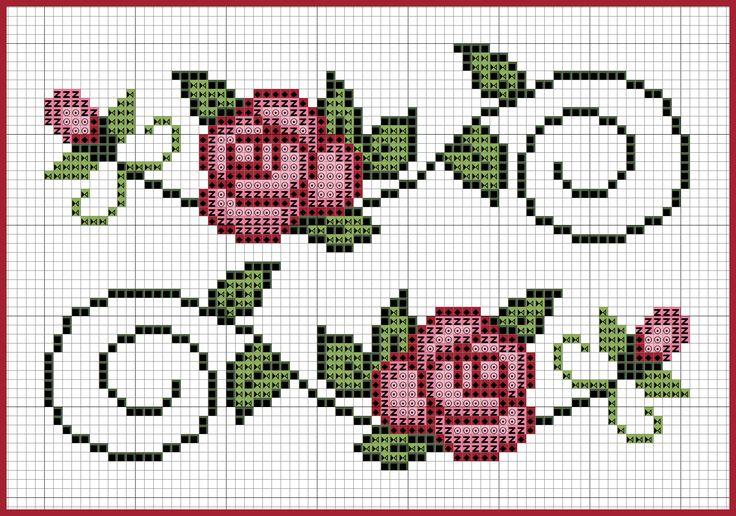 grafico-de-rosas-em-ponto-cruz-para-toalhas-500x400 Gráfico de rosas em ponto cruz para toalhas