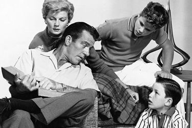 """The Cleaver Family, from popular late 1950s-early 1960s TV show """"Leave It To Beaver."""" (The Tangential)"""