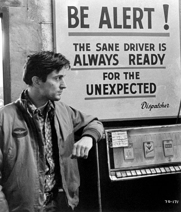 Robert De Niro as 'Travis Bickle' in Taxi Driver (1976)