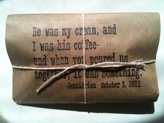 Personalized Coffee Party Favor Wedding Favor by AproposRoasters, $2.50