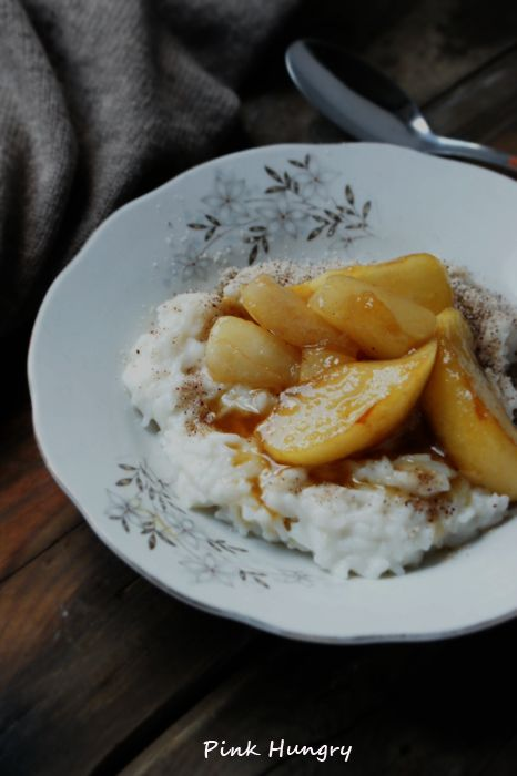 Migdałowy ryż z gruszkami :)  takeafruit.pl