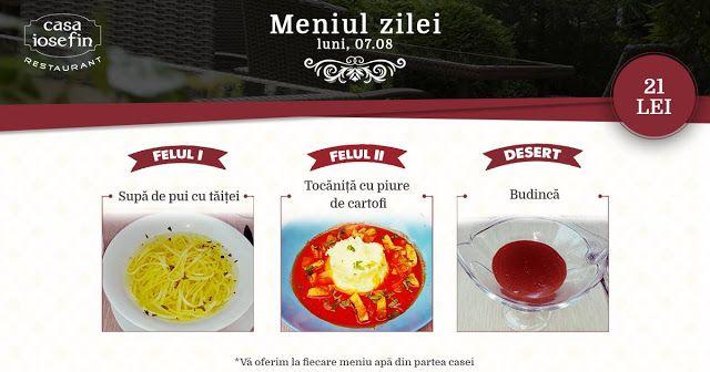 Restaurant Casa Iosefin Timisoara: Meniu Zilei 07.08