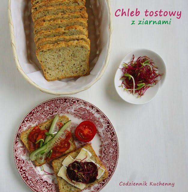Chleb tostowy z ziarnami