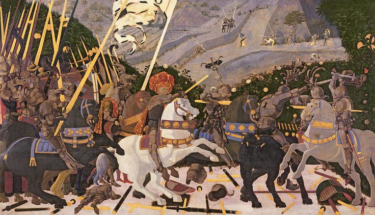 Paolo Uccello - The Battle of San Romano (between 1438 and 1440)