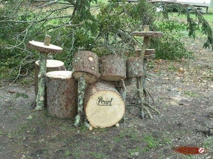 Wood drums