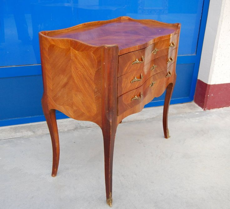 Piccola commode, comò in mogano e bois de rose primo '900 fronte 69 cm