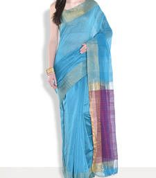 Buy Purple hand_woven handloom saree with blouse handloom-saree online