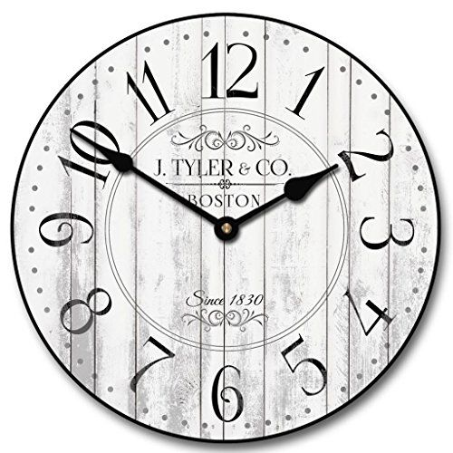Harbor White Wall Clock, Available in 8 sizes, Most Sizes... https://smile.amazon.com/dp/B00J4EOOLO/ref=cm_sw_r_pi_dp_U_x_vvBGAb3GDTYN7