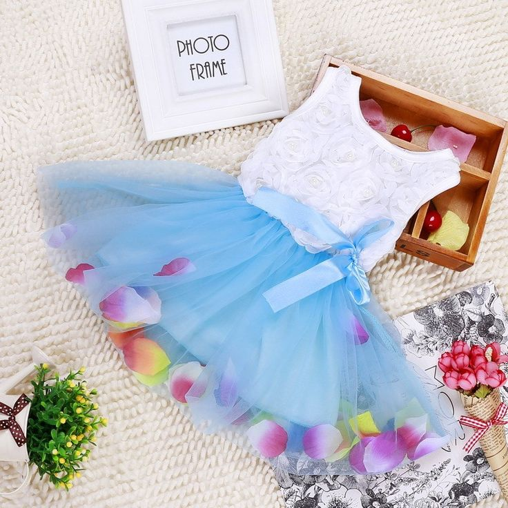 Nice DreamShining Summer Baby Girl Dress Bow Floral Girls Princess Dresses Baby 1 Year Birthday Dress Ball Gown Children Clothes - $14.43 - Buy it Now!