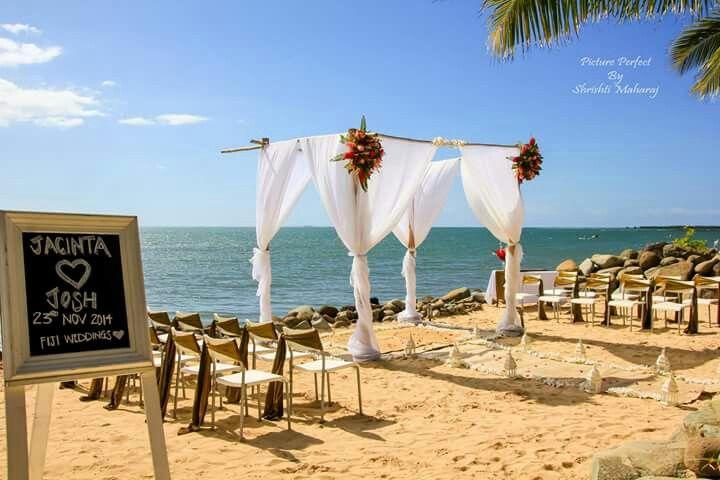 Wyndham resort fiji beach setup