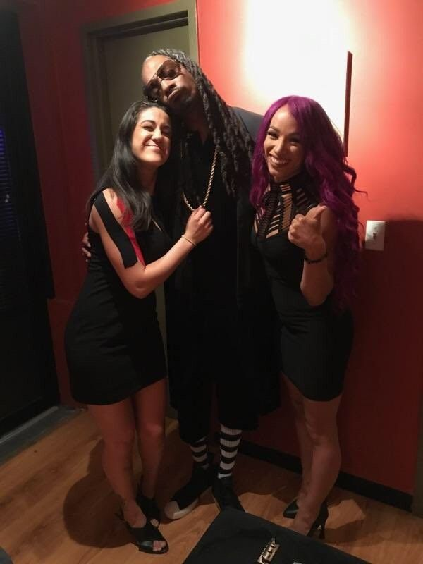 Bayley, Snoop Dogg, Sasha Banks