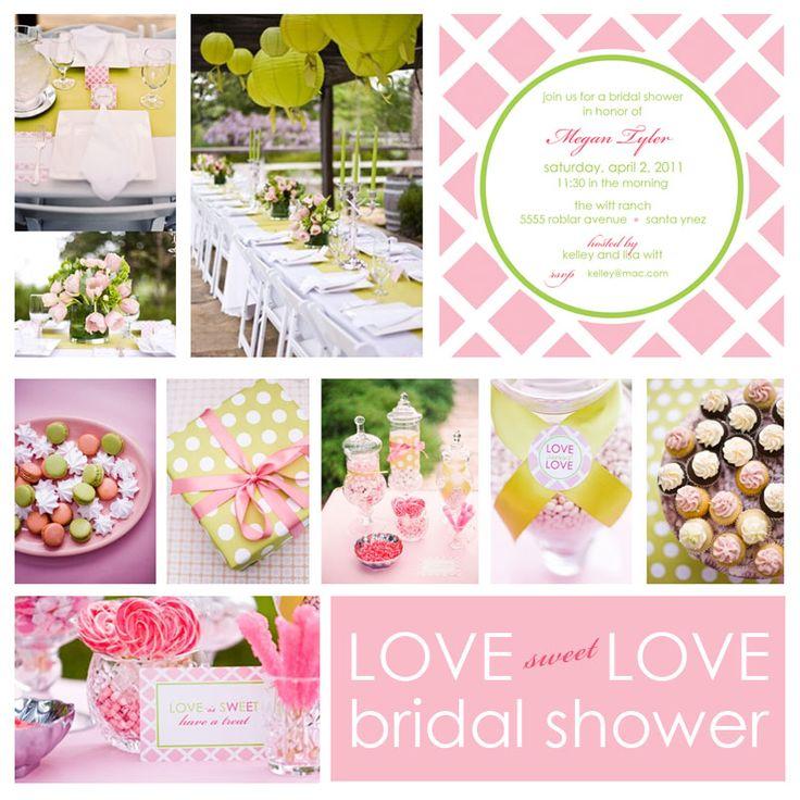 bridal showerWedding Shower, Bridal Shower Ideas, Green Parties, Colors Schemes, Parties Ideas, Bridalshower, Shower Theme, Pink Bridal, Bridal Showers