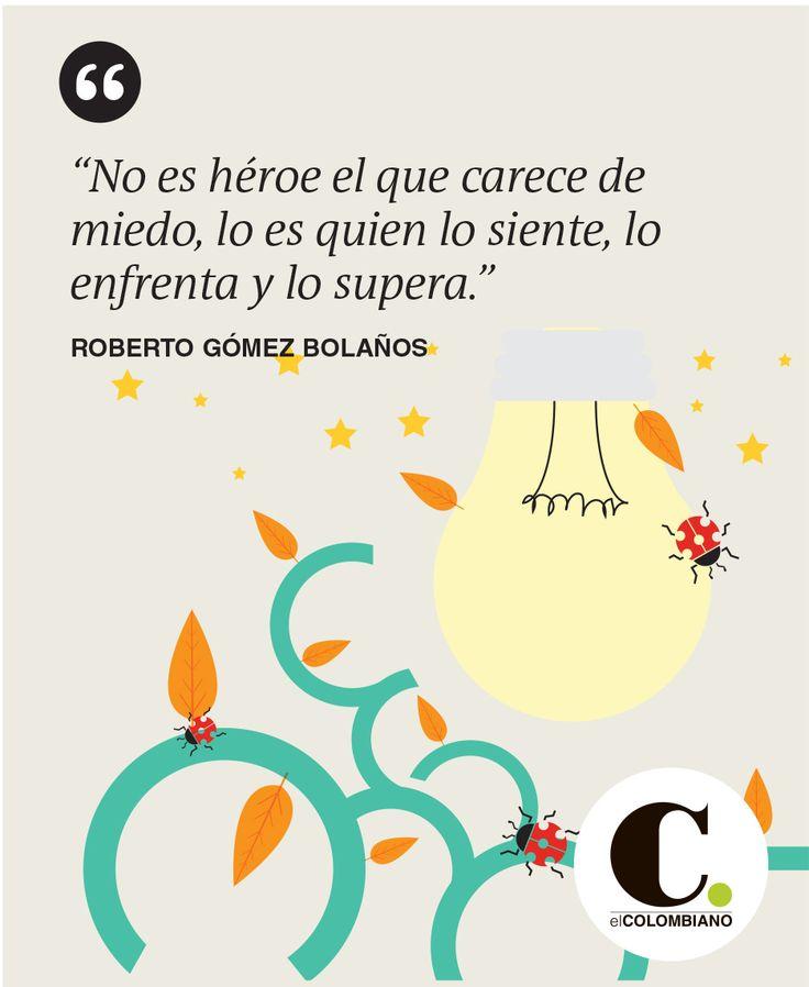 Frase publicada el lunes 23 de marzo de 2015 en El Colombiano.