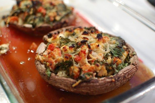 Food That Rocks: Spinach & Feta Stuffed Portabella Mushrooms