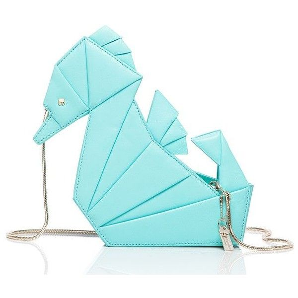 Kate Spade Breath Of Fresh Air Origami Seahorse ($328) ❤ liked on Polyvore featuring bags, handbags, clutches, blue cross body purse, blue crossbody handbag, blue crossbody purse, crossbody handbags and blue cross body bag