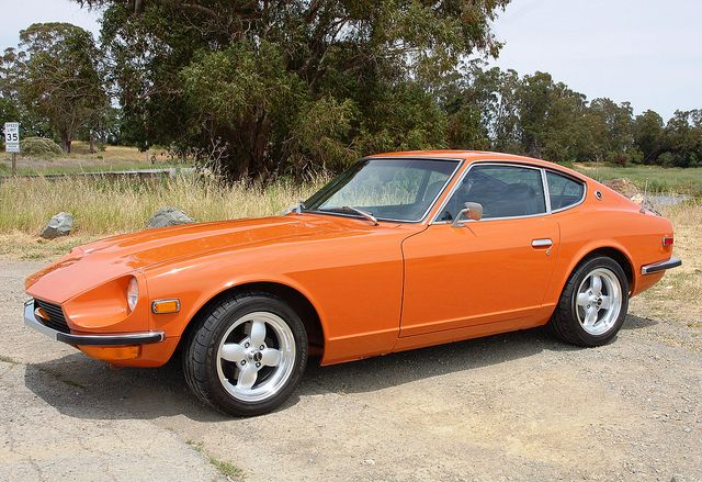 1972 Datsun 240Z Orange Libra For Sale Front Datsun 240z