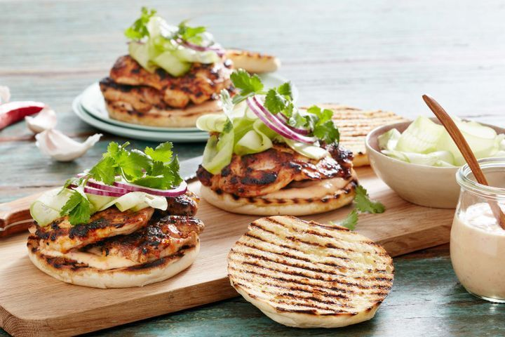 Piri piri chicken burger