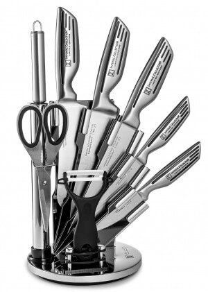 Imperial Collection 9 Piece Stainless Steel Knife Set Giveaway ~ http://steamykitchen.com