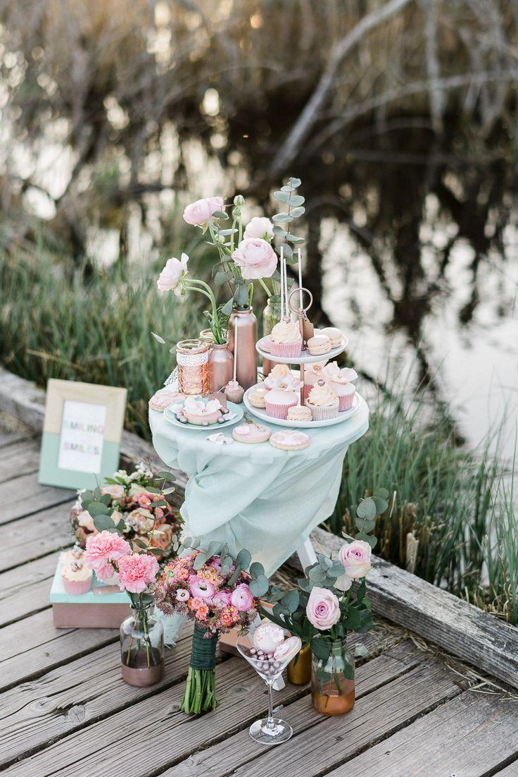 Marvelous Romantische Sommerhochzeitsinspiration in Rosegold u Mint