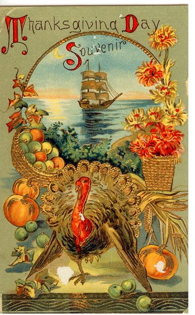 vintage thanksgiving images | Vintage Thanksgiving Postcard
