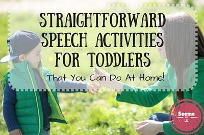 """Speech therapy activities for toddlers can and should be done at home on a daily basis if your little one isn't using any words to communicate. I want to start out by saying that I have used the term """"speech therapy"""" to encompass both speech (sound production) and language (actual words used and how they are put together to form sentences). However, most """"speech"""" activities for toddlers (12 to 36 month old's) should focus more on language development because getting your child communicat..."""