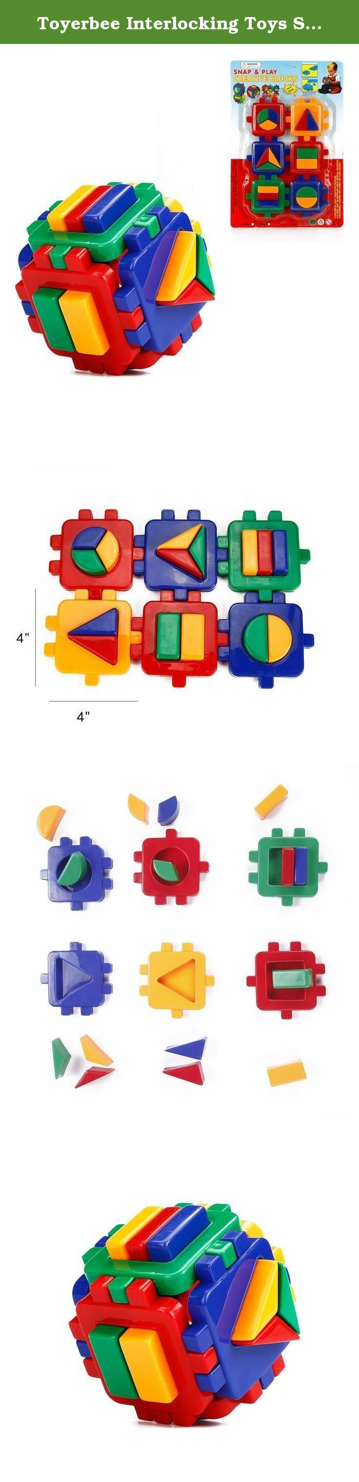 Toyerbee Interlocking Toys Shape Sorter Toy Colorful Building Blocks Plastic Creative Blocks Cube Montessori Toy Bricks For Kids. 1.It is a good toy to teach the kids about the colors and shapes. 2.Improve kids' motor skills and cognitive ability.