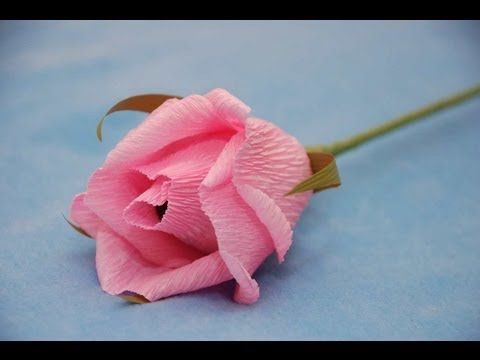 Роза из бумаги для букета из конфет. Мастер-класс. Букет из конфет. - YouTube