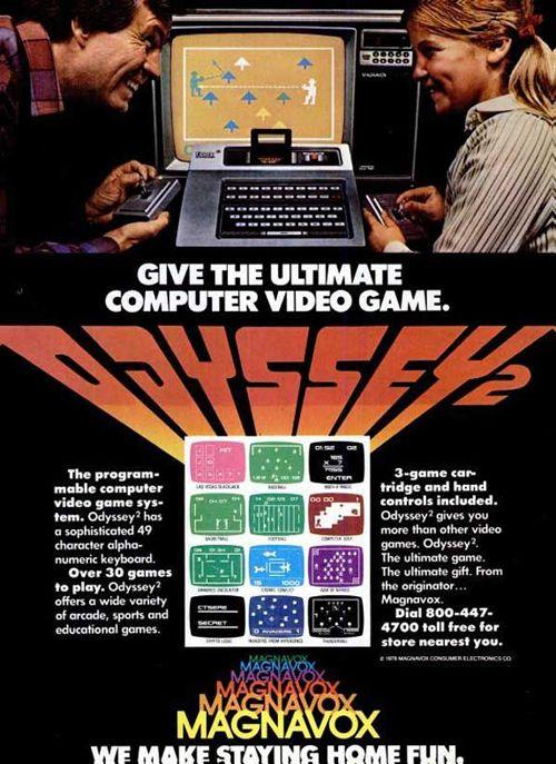 Magnavox Odyssey 2 Video Game Console 1978