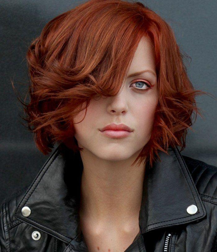 Haare von rotbraun auf braun farben