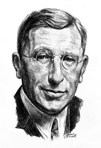 Frederick Banting was an Ontario doctor who discovered insulin, c. 1922. He was awarded the Nobel Peace Prize.