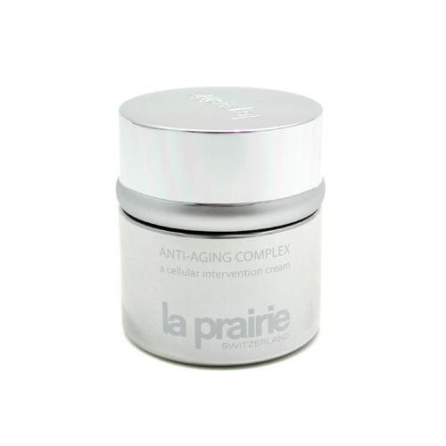 La Prairie Anti-Aging Complex Cellular Intervention Cream, 1.7-Ounce Box by La Prairie. $191.00. New in Box. La Prairie Anti Aging Complex Intervention Cream. 50ml/1.7oz. Anti-Aging Products. An advanced, high performance cream to fight aging delays aging process by preventing inflammation & dehydration strengthens skin to combat free radicals & external aggressors boosts cell turnover & collagen synthesis deeply nourishes skin & relaxes expression lines effectively di...